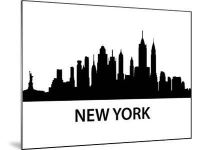 Skyline New York-unkreatives-Mounted Art Print