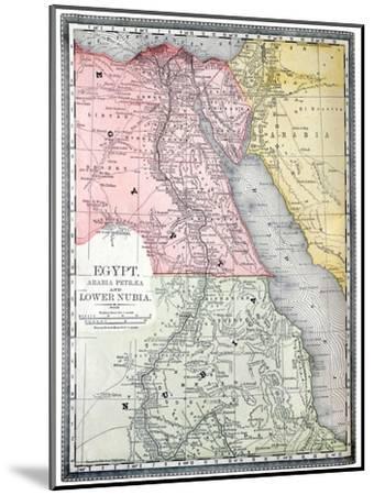 Old Map Of Egypt-Tektite-Mounted Art Print