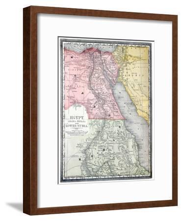 Old Map Of Egypt-Tektite-Framed Art Print