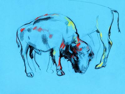 Buffalo Painting-Boyan Dimitrov-Framed Art Print