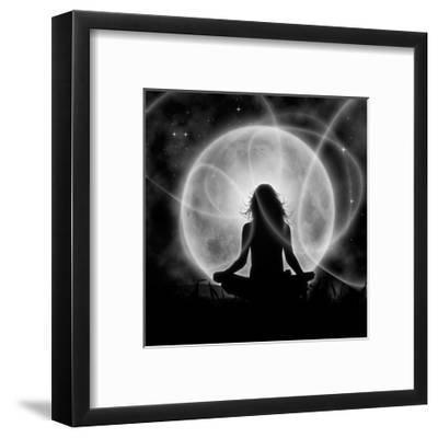 Moon Meditation-Detelina-Framed Premium Giclee Print