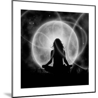 Moon Meditation-Detelina-Mounted Premium Giclee Print
