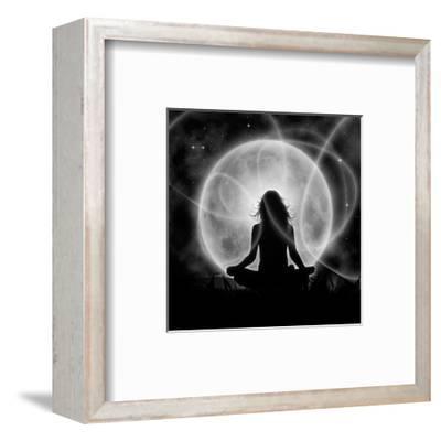 Moon Meditation-Detelina-Framed Art Print