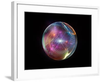 Fractal Ball-agsandrew-Framed Art Print
