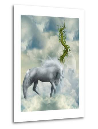 Fantasy White Horse-justdd-Metal Print