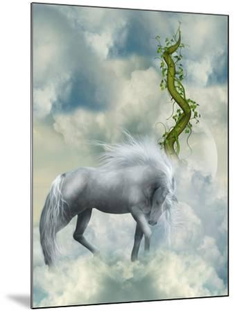Fantasy White Horse-justdd-Mounted Art Print