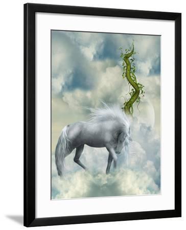 Fantasy White Horse-justdd-Framed Art Print