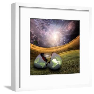 Earth Egg Is Hatched-rolffimages-Framed Art Print