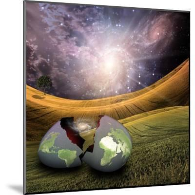 Earth Egg Is Hatched-rolffimages-Mounted Art Print
