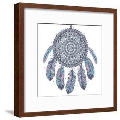 Ethnic Dream Catcher-transiastock-Framed Art Print