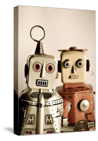 Two Retro Robot Toys-davinci-Stretched Canvas Print