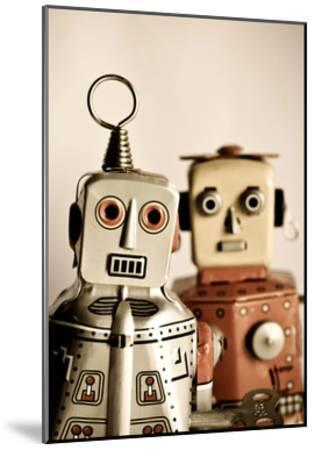 Two Retro Robot Toys-davinci-Mounted Art Print