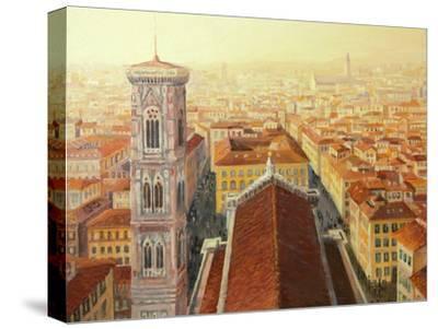 Flight Over Florence-kirilstanchev-Stretched Canvas Print