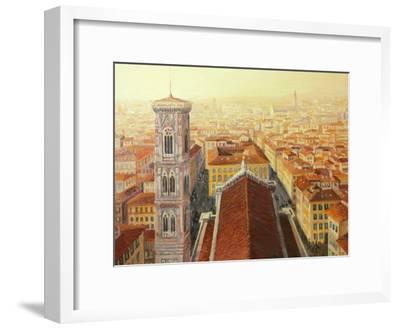 Flight Over Florence-kirilstanchev-Framed Art Print