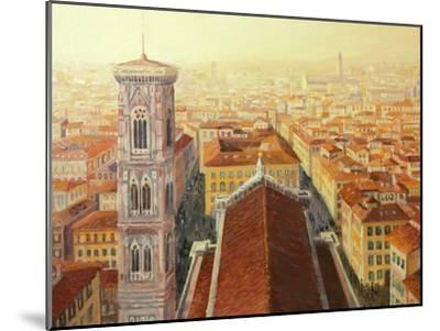 Flight Over Florence-kirilstanchev-Mounted Art Print