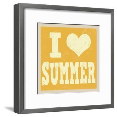 I Love Summer Poster-radubalint-Framed Art Print