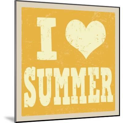 I Love Summer Poster-radubalint-Mounted Art Print