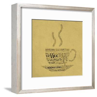 Coffee Cup Of Words-alanuster-Framed Art Print