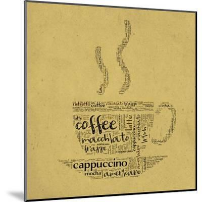 Coffee Cup Of Words-alanuster-Mounted Art Print