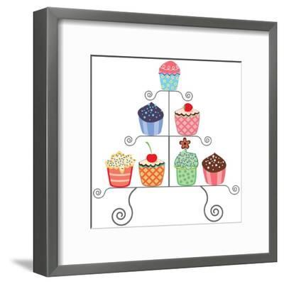 Cupcakes On A Stand-dmstudio-Framed Art Print