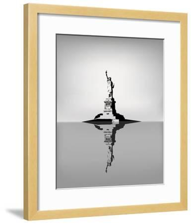 Statue Of Liberty-zhelunovych-Framed Art Print