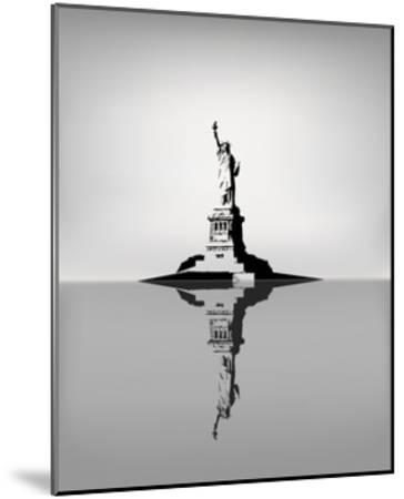 Statue Of Liberty-zhelunovych-Mounted Art Print