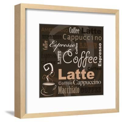 Coffee-leeser-Framed Art Print