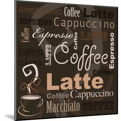 Coffee-leeser-Mounted Art Print