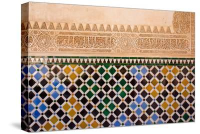 Mosaic At The Alhambra, Granada, Spain-neirfy-Stretched Canvas Print
