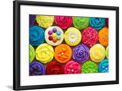 Cupcakes-Ruth Black-Framed Art Print