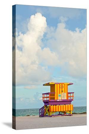 Miami Beach Florida Lifeguard House-Fotomak-Stretched Canvas Print