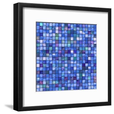 Mosaic-rateland-Framed Art Print