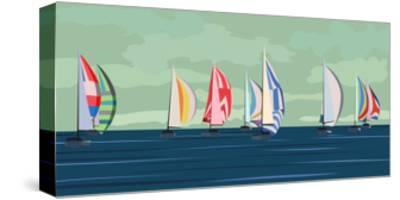 Sailing Yacht Regatta-Vertyr-Stretched Canvas Print