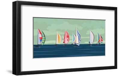 Sailing Yacht Regatta-Vertyr-Framed Art Print