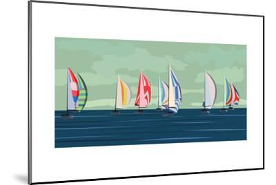 Sailing Yacht Regatta-Vertyr-Mounted Art Print