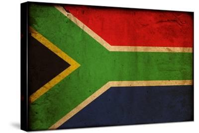 Vintage Flag Of South Africa-ilolab-Stretched Canvas Print
