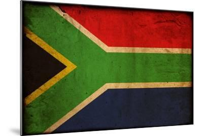 Vintage Flag Of South Africa-ilolab-Mounted Art Print