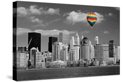 Lower Manhattan Skyline-Gary718-Stretched Canvas Print