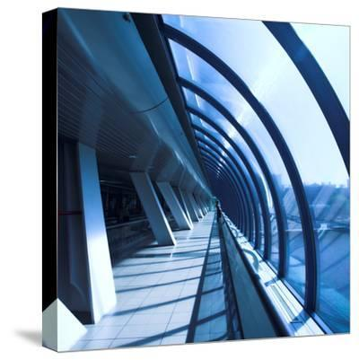 Glass Corridor In Office Centre-babenkodenis-Stretched Canvas Print