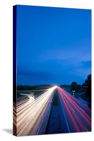 Autobahn-bernjuer-Stretched Canvas Print