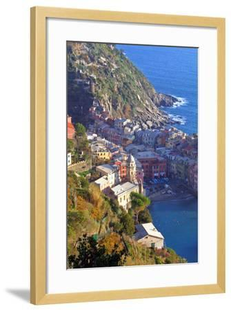Europe, Italy, Vernazza. Cinque Terre Town of Vernazza, Italy-Kymri Wilt-Framed Photographic Print