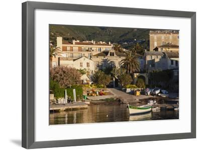 Port View at Dawn, Erbalunga, Le Cap Corse, Corsica, France-Walter Bibikow-Framed Photographic Print
