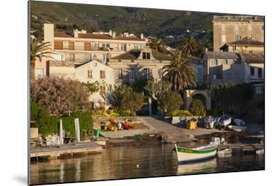 Port View at Dawn, Erbalunga, Le Cap Corse, Corsica, France-Walter Bibikow-Mounted Photographic Print