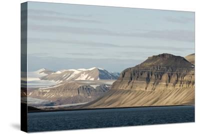 Landscape, Sassenfjorden, Spitsbergen, Svalbard, Norway-Steve Kazlowski-Stretched Canvas Print
