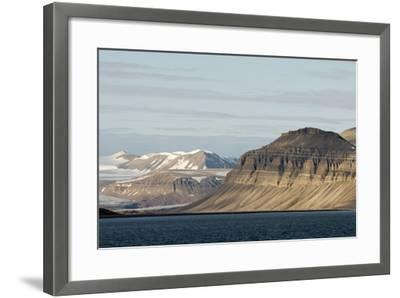Landscape, Sassenfjorden, Spitsbergen, Svalbard, Norway-Steve Kazlowski-Framed Photographic Print