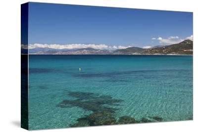 Water View, Ille Rousse, La Balagne, Corsica, France-Walter Bibikow-Stretched Canvas Print