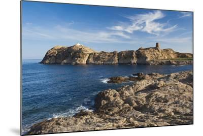 Lighthouse and Tower, Ile De La Pietra, Ile Rousse, Corsica, France-Walter Bibikow-Mounted Photographic Print