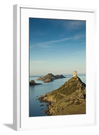 View of the Iles Sanguinaires at Dawn, Ajaccio, Corsica, France-Walter Bibikow-Framed Photographic Print
