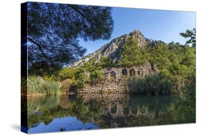 Ruins in Olympos, Antalya, Turkey-Ali Kabas-Stretched Canvas Print