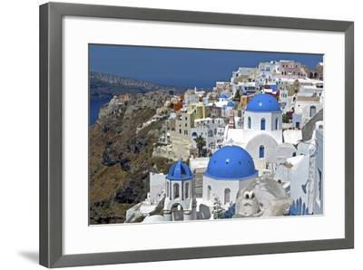 The Town of Oia on the Island of Santorini, Greece-David Noyes-Framed Photographic Print